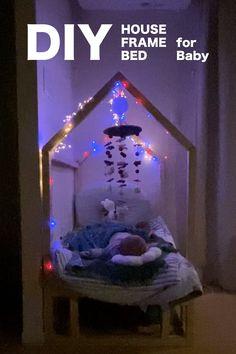 おしゃれな三角屋根の家型ベッド ハウスフレームベッドのDIYレシピ HOW TO MAKE HOUSE FRAME BABY BED #子供部屋のデザイン House Frame Bed, House Beds, Diy Frame, Sofa Bed, Toddler Bed, Baby, Furniture, Home Decor, Pull Out Bed