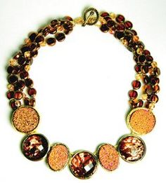 Gold Rush Necklace | AllFreeJewelryMaking.com