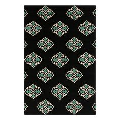 Add a pop of style to your foyer, sunroom, or patio with this versatile rug.   Product: RugConstruction Material: 100%...