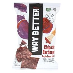 Way Better Snacks Tortilla Chips - Chipotle Barbeque Purple Sweet Potato - Case Of 12 - 5.5 Oz Country of origin : USA Kosher : Yes Size : 5.5 OZ Pack of : 12 Product Selling Unit : case