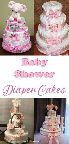 Baby Shower Diaper Cake Tutorial - Hip Hoo-Rae - Baby Shower Diaper Cake Instructions: Need Step by Step tutorial on HOW to make a Diaper Cake - Diaper Cakes Tutorial, Diaper Cake Instructions, Diy Diaper Cake, Nappy Cakes, Cake Tutorial, Girl Diaper Cakes, Diaper Cake For Girls, Diaper Crafts, Diaper Babies