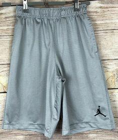 7e72c72026e Details about Nike Air Jordan Shorts Boys Size M Medium 10-12 - Gray