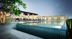 Infinity pool at the Chillax Resort... my base in Bangkok!
