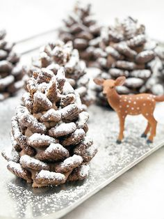 Not only is this Chocolate Pinecones recipe a fun snack for kids, they also make for a surprisingly elegant dinner table display.