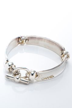 Vintage Chanel Silver 925 Bracelet...links & toggle clasp.
