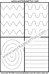Line Tracing – Zig Zag , Curved , Spiral & Straight Line Tracing – One Worksheet Printable Preschool Worksheets, Free Kindergarten Worksheets, Preschool Lesson Plans, Tracing Worksheets, Free Preschool, Writing Activities For Preschoolers, Toddler Activities, Pre Writing, Foundation Stage