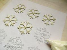DIY Snowflake Cupcake Toppers tutorial                                                                                                                                                                                 More