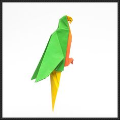How to Fold an Origami Parrot - http://www.papercraftsquare.com/fold-origami-parrot.html