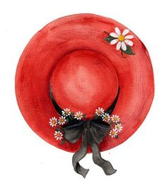 Fancy Hats, Cute Hats, Sketches Of Love, Goeie More, Ceramic Figures, Victorian Jewelry, Vintage Boutique, Red Hats, Hat Pins