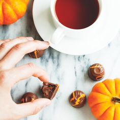 Pumpkin Truffles from Purdys with a cup of warm tea is a perfect mid-afternoon break.