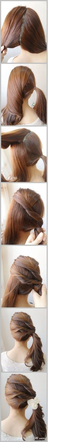 This would look great with a side bun. It would make it more sophisticated.
