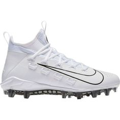 premium selection e3e8e cadca Nike Men s Huarache 6 Elite Lacrosse Cleats, Size  11.5, White Turf Toe,