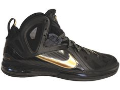 cheap for discount 57993 c4774 Nike Lebron 9 Elite Away 2012 Black Gold Lebron 9, Black Gold, Kicks