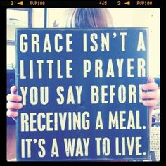 The meaning of Grace.