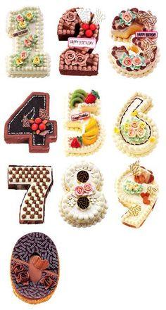 Number Cakes More , 3d Cakes, Mini Cakes, Cupcake Cakes, Number Birthday Cakes, Number Cakes, Cake Lettering, Monogram Cake, Cake Trends, Buttercream Cake