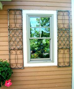 Wrought Iron Exterior Window Shutters Metal Wall Art Metal