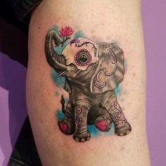 Sugar skull elephant tattoo | InkSpired | Tattoos ...
