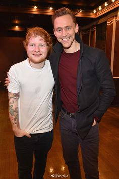 Tom Hiddleston with Ed Sheeran at SiriusXM's 'Secret Show' Series with Ed Sheeran at The Studio at Webster Hall on March 6, 2017 in New York City. Via Torrilla. Higher resolution image: http://ww4.sinaimg.cn/large/6e14d388ly1fde3g99yg7j21jg2bce81.jpg