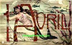 vintage april fools postcard