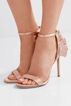 Jimmy Choo - Kerry Ruffled Satin Sandals - Blush - IT