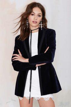 Vintage Alaïa Arianna Velvet Blazer