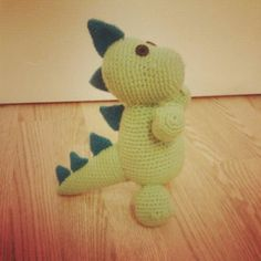 Crochet amigurumi dinosaur - the perfect gift for a little guy. Free pattern link at bottom of post.