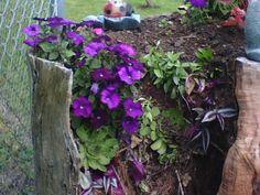 Tree Stump Flower Pot