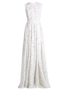 Herbe sleeveless floral-print cloqué gown | Emilia Wickstead | MATCHESFASHION.COM