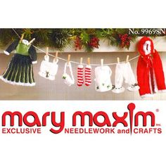 Mary Maxim - Mrs. Claus Clothesline Garland Pattern
