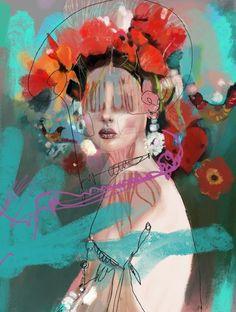 by Mariakolor on DeviantArt Abstract Portrait, Portrait Art, Portraits, Figure Painting, Painting & Drawing, Collage Art, Collages, Plakat Design, Human Art