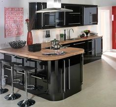 High Gloss Kitchen Doors  Four High Gloss Kitchen Doors That'll Interesting How Much Does It Cost To Replace Kitchen Cabinets 2018