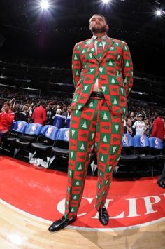 Best Christmas Outfit at the #Clippers vs #Warriors game on 12/25/14