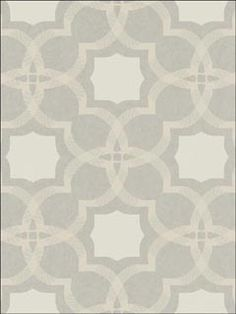Sophia Cream Satiny Gray Wallpaper  Brand:Collins and Company  Book:Panache  Item #:WTG-102617