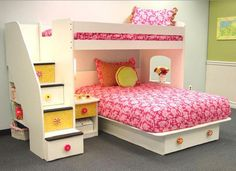 Blythe Stairway Loft Bed Bunk (twin over full)