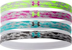 Keep your hair out of your face with the Women's Reflective Mini Headbands from Under Armour. Lightweight 67% nylon/22% polyester/11% spandex construction offers all-day comfort, and a stripe of silicone prevents the headband from slipping.