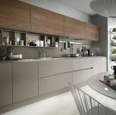 The best modern kitchen design this year. Are you looking for inspiration for your home kitchen design? Take a look at the kitchen design ideas here. There is a modern, rustic, fancy kitchen design, etc. Modern Kitchen Cabinets, Kitchen Cabinet Design, Interior Design Kitchen, Kitchen Modern, Modern Kitchens, Kitchen Contemporary, Contemporary Design, Kitchen Layout, Minimal Kitchen