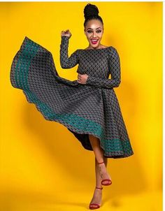 Open back long sleeves Ankara African Print dress Prom dress. Open back long sleeves African Print Dresses, African Print Fashion, African Fashion Dresses, African Dress, African Outfits, African Clothes, Africa Fashion, African Prints, African Fabric