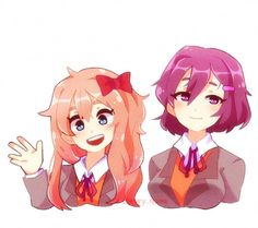 Looks like Sayori and Yuri swapped hair lengths : DDLC