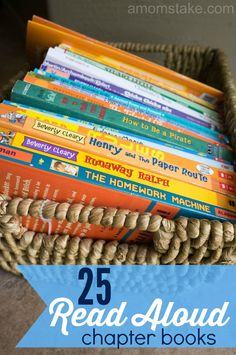 Inspire a love of reading in your children by reading books together! This list of 25 great read aloud chapter books is the perfect way to get started finding a book to read with your children.