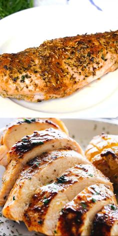 Juicy Oven Baked Chicken Breasts – Simple and easy method for how to make perfectly juicy and deliciously seasoned oven baked chicken breast. Salmon Recipes, Meat Recipes, Cooking Recipes, Recipies, Dinner Recipes, Oven Cooking, Cooking Oil, Restaurant Recipes, Drink Recipes