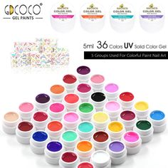 #20204 di arte del chiodo CANNI 36 pure color uv gel kit, vernice di colore uv gel kit, colori uv gel kit nail learner kit fai da te nail polacco uv del gel