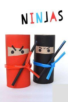 Ninjas with toilet paper rolls
