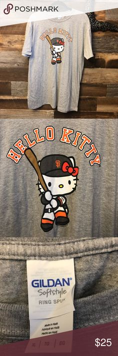 RARE San Francisco Giants Hello Kitty T-shirt Game day giveaway. Not sold in stores. New, never worn. Smoke free home. Gildan Shirts Tees - Short Sleeve