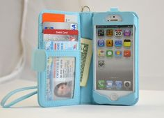 Bekijk alle stijlvolle iPhone hoesjes - #iphone case in leather | Cool Stuff - iPhone DeluxeWallet Leather Case with Removable Strap for iPhone 5 - Pockets to Keep Bank Cards Driving License Bills , Belongings Safe - Light B - http://www.ledereniphonehoesjes.nl/slimme-iphone-6-hoesjes/
