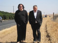 Billy Sherwood (from Yes) and Bill Shatner taken 15.Aug.2013 somewhere in California. Photo by Paul Camuso