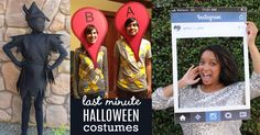 Last Minute DIY Halloween Costumes for Adults, Teens and Kids - Quick and Easy Costume Tutorials