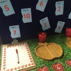 EYFS interaction maths display - doubling and sharing