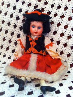 Mom's darling German doll. Circa 1938.