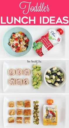 Kids Meals Delicious and nutritious toddler lunch ideas! - Healthy toddler lunch ideas for the growing tot in your life! These lunch ideas are easy to prepare and delicious. Healthy Toddler Lunches, Picky Toddler Meals, Toddler Finger Foods, Toddler Snacks, Kids Meals, Toddler Dinners, Baby Finger, Healthy Toddler Breakfast, Daycare Meals