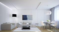 """Résultat de recherche d'images pour """"meuble salon integre mur"""""""